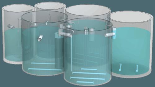 Blokově modulární podzemní instalace BIOTAL-BP2R